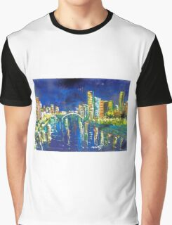 Southbank at night 'feel like taking a stroll' - Vic Australia Graphic T-Shirt