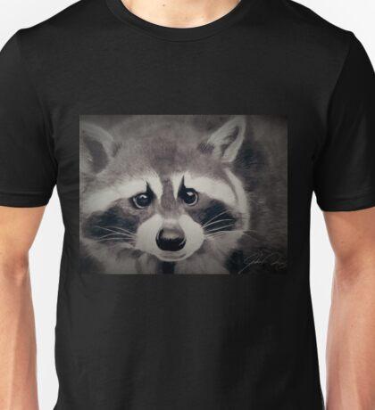 Raccoon Pencil Drawing Unisex T-Shirt