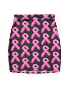 Pink Breast Cancer Awareness Candle Ribbon Mini Skirt