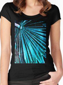 Blue Palm Fan Women's Fitted Scoop T-Shirt