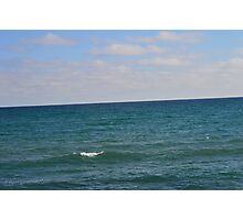 Lake View with Single Wave Photographic Print