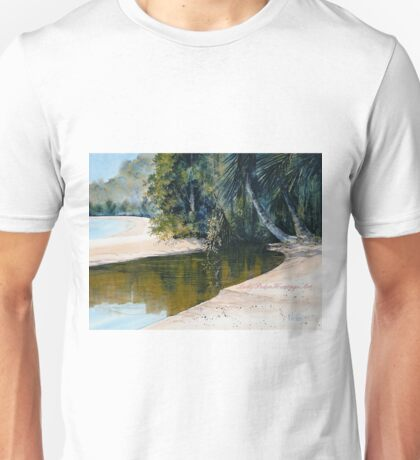 """Tidal Creek, Dunk Island"" Unisex T-Shirt"