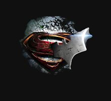 cape crusader logo Vs man of steel logo Unisex T-Shirt
