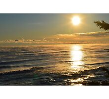 Tropical View of Lake Michigan Photographic Print