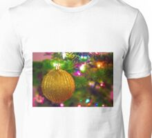 Gold Glitter Ball Unisex T-Shirt