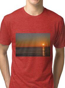 Sunset on Lake Michigan Tri-blend T-Shirt