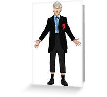 Regenerated 3rd Doctor Greeting Card