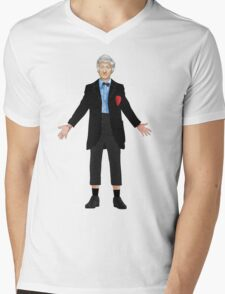 Regenerated 3rd Doctor Mens V-Neck T-Shirt