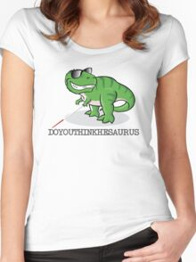 Doyouthinkhesaurus Women's Fitted Scoop T-Shirt