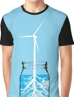Natural energy wind turbine plant Graphic T-Shirt