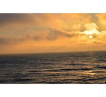 Cloudy Sunset on Lake Michigan Photographic Print