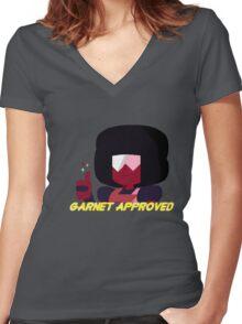 Steven Universe - Garnet Approved Women's Fitted V-Neck T-Shirt