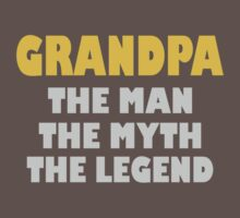 Father's Day Grandpa Gift Funny Grandpa Shirt Birthday Gift For Grandpa The Man Myth Legend Grandfather funny nerd geek geeky by septoadik11