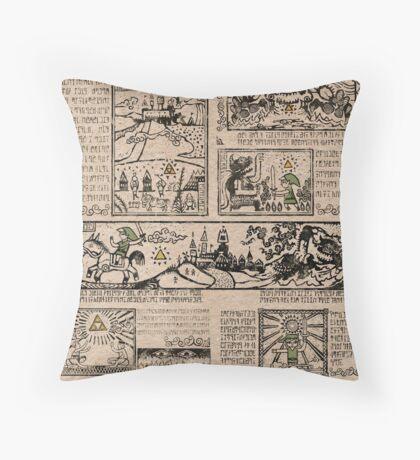 Hero of Time Tapestries Throw Pillow