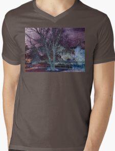 Purple Skies of Winter Mens V-Neck T-Shirt