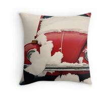 Winter Reds Throw Pillow