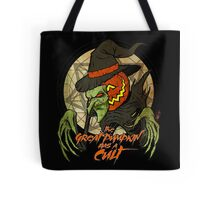Cult of the Great Pumpkin: Witch Mask Tote Bag