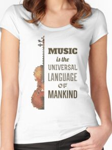 Music is the universal language of mankind Women's Fitted Scoop T-Shirt