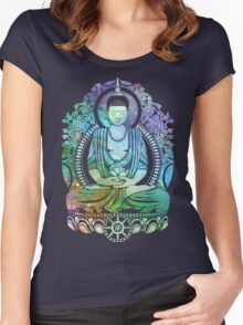 Gautama Buddha Cool Galaxy Women's Fitted Scoop T-Shirt