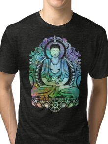 Gautama Buddha Cool Galaxy Tri-blend T-Shirt