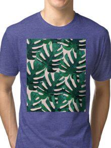 Monstera Pattern #Redbubble #decor #lifestyle Tri-blend T-Shirt