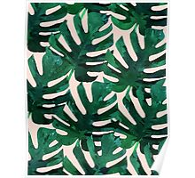 Monstera Pattern #Redbubble #decor #lifestyle Poster