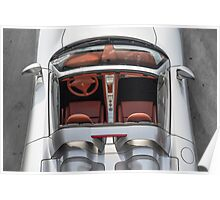 Porsche Carrera GT from above Poster