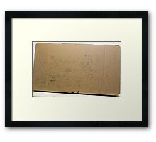 Cardboard Cat Comedy Framed Print