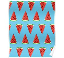 Watermelon pattern Poster