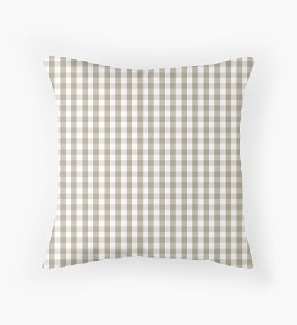 Pussy Willow Mini Gingham Check Plaid Throw Pillow