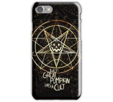 Cult of the Great Pumpkin: Pentagram iPhone Case/Skin