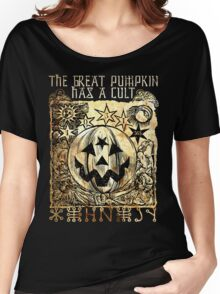 Cult of the Great Pumpkin: Sun, Moon & Angels Women's Relaxed Fit T-Shirt