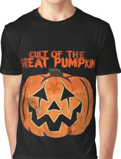 Cult of the Great Pumpkin: Mask Graphic T-Shirt