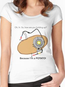 GladOs Potato Women's Fitted Scoop T-Shirt