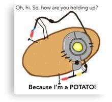 GladOs Potato Canvas Print