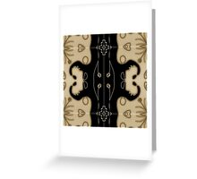 Modern abstract, contemporary design, black and gold Greeting Card