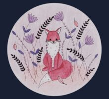 Beautiful Fox in the Garden One Piece - Short Sleeve