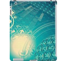 green arrow motion with Business background iPad Case/Skin