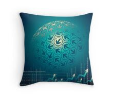 arrow motion with Business background Throw Pillow