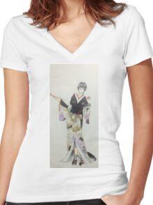 Pokemon Trainer Women's Fitted V-Neck T-Shirt