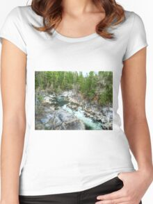 Forest Vein Women's Fitted Scoop T-Shirt