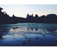 Central Park Lake Photographic Print