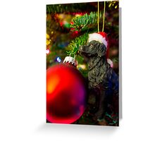 Puppys Christmas Greeting Card