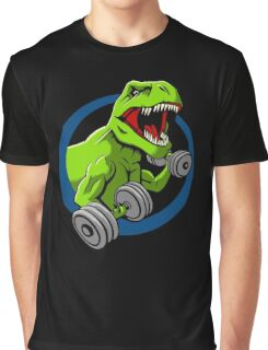 Big Guns Dinosaur Graphic T-Shirt