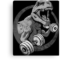 Big Guns Dinosaur - Halftone Canvas Print