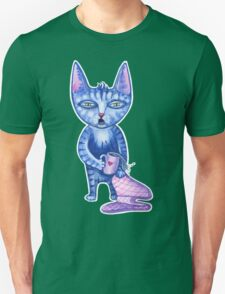 Sleepy cute cartoon cat early in the morning  Unisex T-Shirt