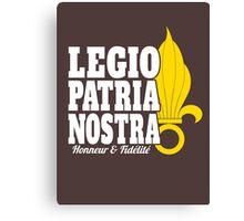 French Foreign Legion - Legio Patria Nostra & Grenade Canvas Print