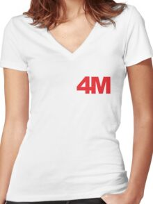 4minute red Women's Fitted V-Neck T-Shirt
