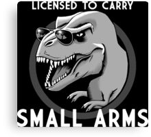 Licensed to Carry Small Arms - Halftone Canvas Print