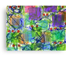 Squares with Tangles and Red Points Canvas Print